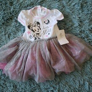 NWT Girls Minnie Mouse Tutu Shirt Dress